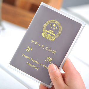 Waterproof PVC Transparent Passport Cover Case Women Travel ID Card Holders Business Credit Card Holder - efair Best spare parts online shopping website