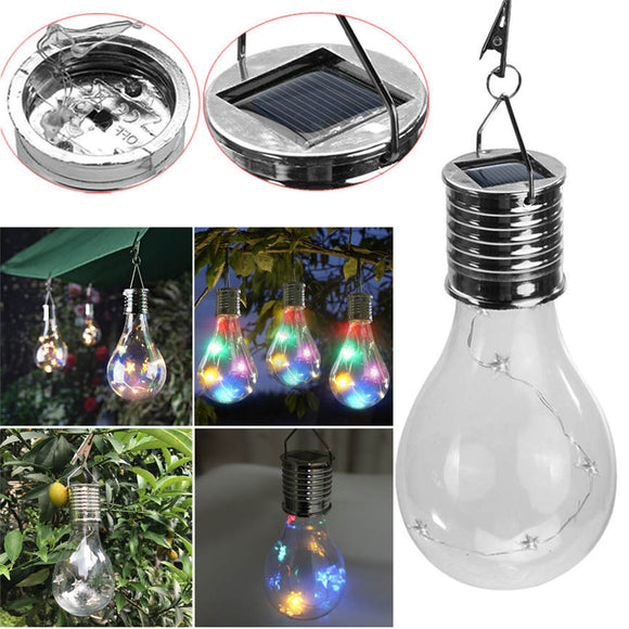 Waterproof Solar Rotatable Outdoor Garden Camping Hanging Stars LED Light Lamp Bulb Decoration 7.5*15cm Dropshipping June#6 - efair.co