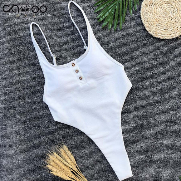 White Bather 2018 Sexy high cut leg one piece swimsuit women Swimwear Backless thong Bathing suit Swim female Monokini - efair Best spare parts online shopping website