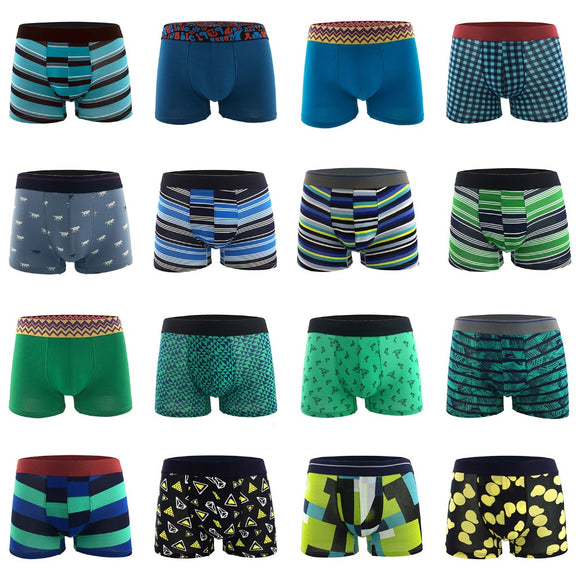 Wholesale Premium Cotton Boxers Shorts Men's Sex Underwear Boxer Trunk Breathable Underpants Cuecas Masculina Calzoncillos - efair.co