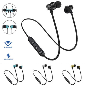 Wireless Bluetooth Earphone V4.2 Stereo Sports Waterproof XT-11 Magnetic Earbuds in-ear Headset with Mic for iPhone Samsung - efair.co