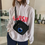 Women Canvas Bag Hong Kong Style Harajuku Style Contrast Color Small Bag Korean Style Fashionable Casual Messenger Shoulder Bags - efair Best spare parts online shopping website