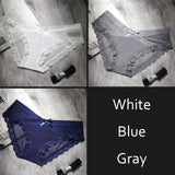 Women's Underwear Panties Sexy Transparent Mesh Breathable Briefs Low-Rise Bow Floral Panty for Ladies Girls DULASI 3pcs/lot - efair Best spare parts online shopping website