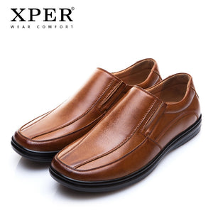 XPER Brand New Men Loafers Slip-on Breathable Charm Men Shoes Fashion Solid Brown Men Flats Casual Sneakers Shoes XAF86089 - efair Best spare parts online shopping website