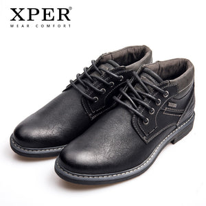 XPER Brand Tex Waterproof Boots Men Fashion Work Boots Black Business Male Ankle Boots Big Size 40-46 Rain Shoes Hot #XHY12603BL - efair.co