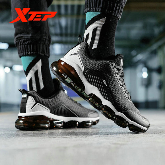 Xtep AIR MEGA Men Running Shoes Autumn Winter Air Cushion Breathable Shoes Lightweight Waterproof Sports Shoe 881119119091