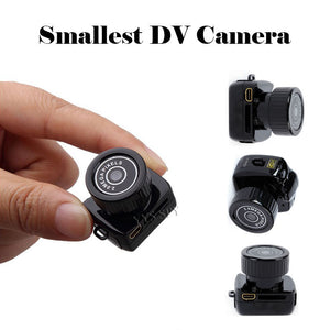 Y2000 Portable Super Mini Camera Digital Video Audio Cam Recorder Smallest DV Webcam 480P Pocket Secret Camcorder with Keychain - efair Best spare parts online shopping website