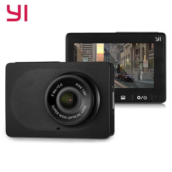 YI Compact Dash Cam WiFi 30fps 1080p Full HD Car DVR Dashboard Camera 2.7'' LCD Screen 130 WDR Lens G-Sensor Night Vision Black - efair.co