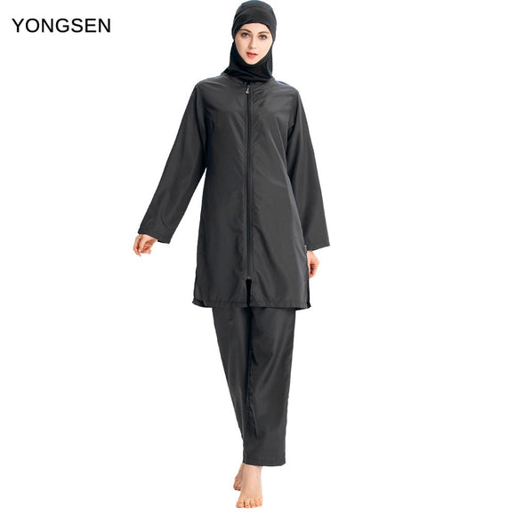 YONGSEN 2019 new Women Muslimah Islamic Swimsuit Sport Clothing Plus Size Burkinis Printed Floral Modest Muslim Swimwear Hijab - efair.co