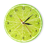 Yellow Lemon Fruit Wall Clock Lime Modern Kitchen Clock Watch Home Decor Living Room Clock Tropical Fruit Wall Art Timepieces - efair Best spare parts online shopping website