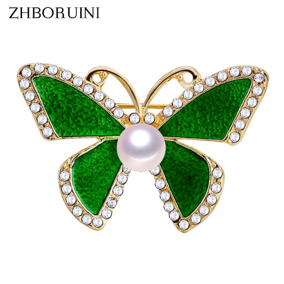 ZHBORUINI 2019 New Pearl Brooch Simple Enamel Butterfly Pearl Breastpin Natural Freshwater Pearl Jewelry For Women Dropshipping - efair Best spare parts online shopping website