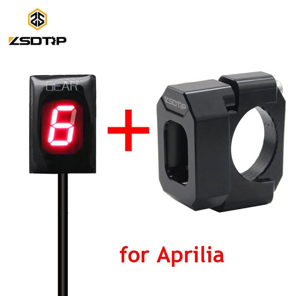 ZSDTRP Waterproof Motorcycle Gear Indicator LED Display for Aprilia ETV 1000 RS125 RSV Mille RSV4 Non-ABS SL1000 Falco 1-6 Level - efair Best spare parts online shopping website