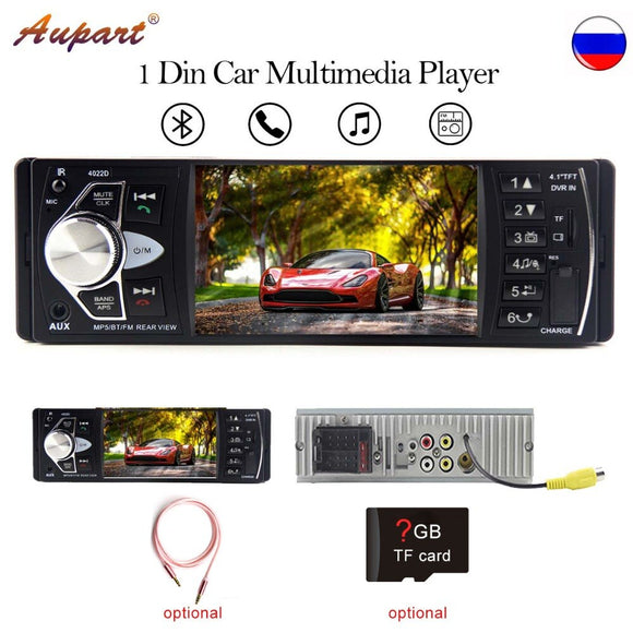 car radio 1 din 4.1 inch HD display auto stereo mp4 mp5 multimedia player Bluetooth FM rear view camera 4022D double din - efair Best spare parts online shopping website
