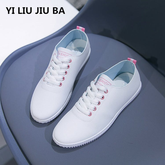 flats women shoes Round Toe Lace Up walking women Shoes Breathable Non slip Comfortable outdoor casual shoes Women mujer *131 - efair Best spare parts online shopping website