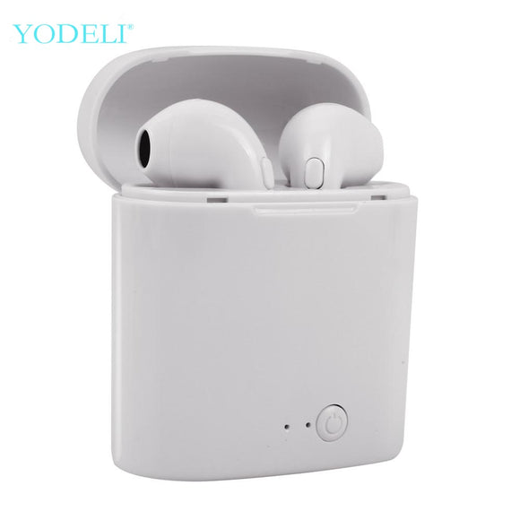 i7s Tws Bluetooth Earphones Mini Wireless Earbuds Sport Handsfree Earphone Cordless Headset with Charging Box for xiaomi Phone - efair Best spare parts online shopping website