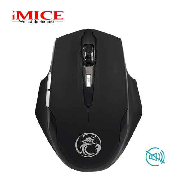 imice 2.4GHz Silent Wireless Mouse Gaming Ergonomic Mini Optical USB Computer Quiet Button Mouse Mice Gamer for PC Laptop - efair Best spare parts online shopping website