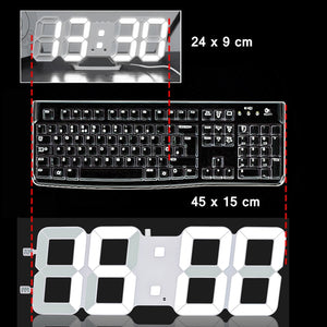 large/small size 3D living room wall clock, Jumbo modern LED, TXL intelligent light sensing led digital watch, low-consumption - efair.co