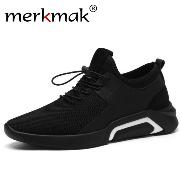 merkmak Brand 2019 New Breathable Comfortable Mesh Men Shoes Casual Lightweight Walking Male Sneakers Fashion Lace Up Footwear - efair Best spare parts online shopping website