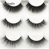 new 3 pairs mink eyelashes natural false eyelashes 3D mink lashes makeup soft fake eyelash extension hand made eye lashes #X09 - efair Best spare parts online shopping website