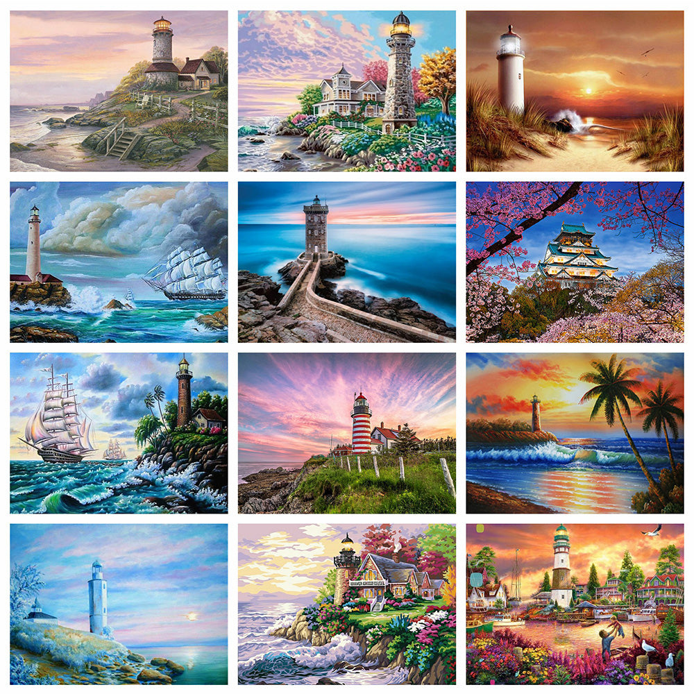 Lighthouse DIY 5D Full Diamond Painting Embroidery Cross Stitch Home Decor