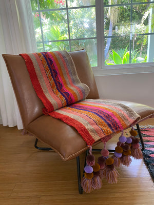 Frazada wool throw with tassels
