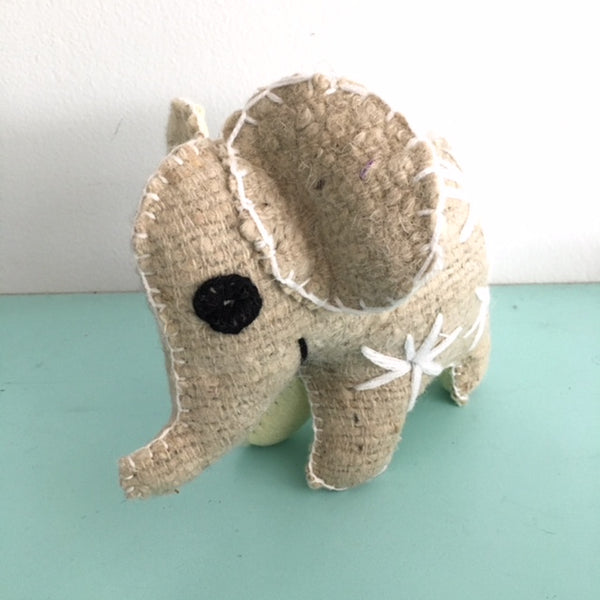 Wool elephant white