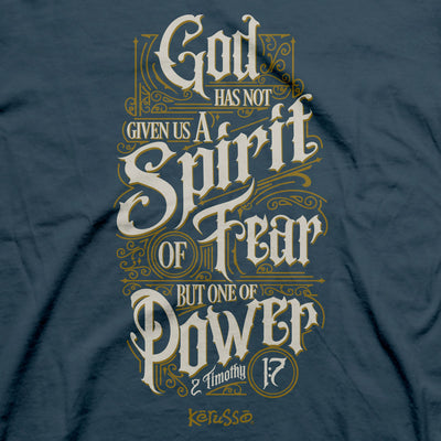 Kerusso Christian T-Shirt Spirit Of Power Scrolls