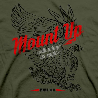Kerusso Christian T-Shirt Mount Up Eagle