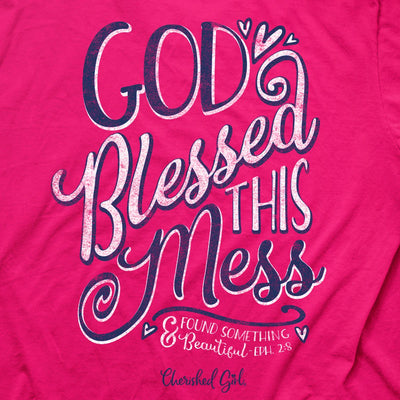 Cherished Girl Womens T-Shirt God Blessed Mess