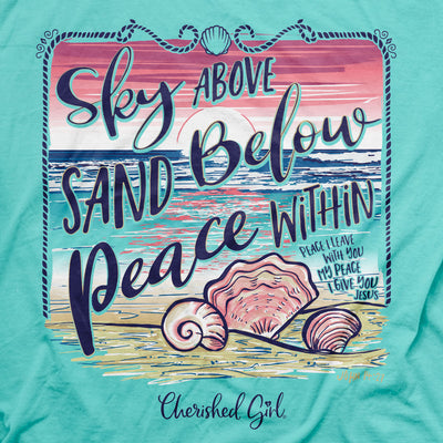 Cherished Girl Womens T-Shirt Sky Above