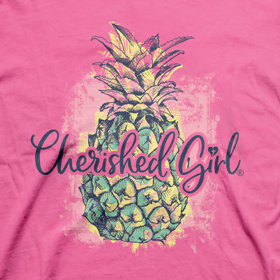 Cherished Girl Womens T-Shirt Pineapple