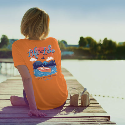 Cherished Girl Womens T-Shirt Life On The Lake