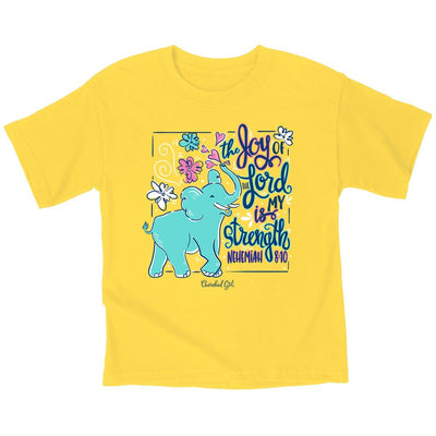 Cherished Girl Kids T-Shirt Joy Elephant