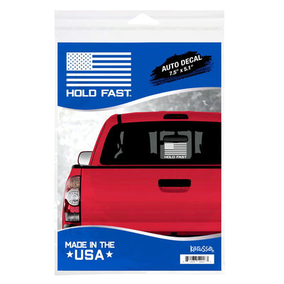 HOLD FAST Flag Logo Vinyl Auto Decal