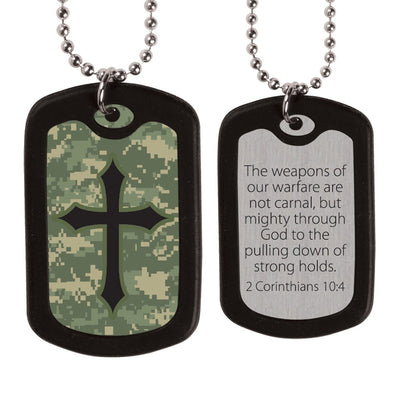 Faith Gear® - Digital Camo Cross Necklace