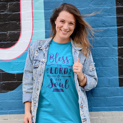 grace & truth Womens T-Shirt Bless The Lord