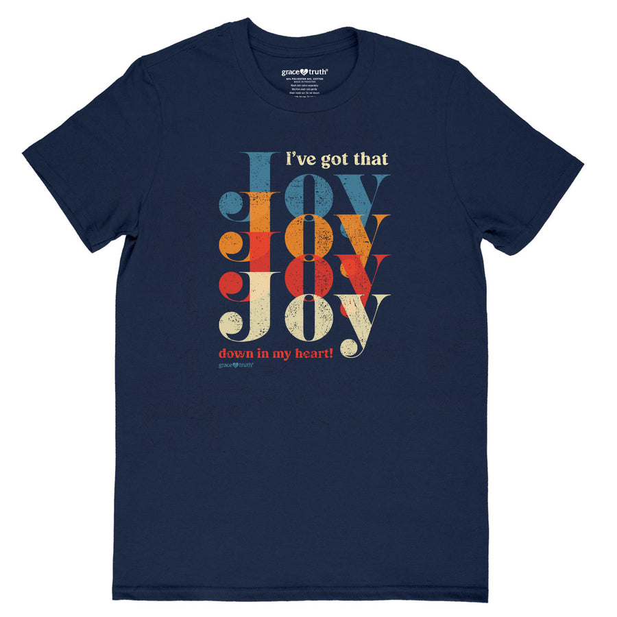grace & truth Womens T-Shirt Joy Joy Joy