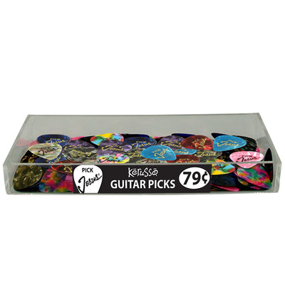 100 Piece Pick Jesus Guitar Pick Assortment with Free Acrylic Tray Display