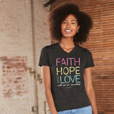 grace & truth Womens V-neck T-Shirt FHL Not Cancelled