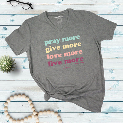 grace & truth Womens V-neck T-Shirt Live More
