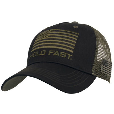 HOLD FAST Mens Cap Black Flag