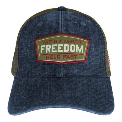 HOLD FAST Mens Cap Faith Family Freedom