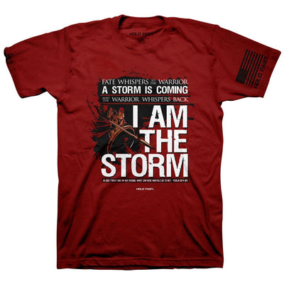 HOLD FAST Mens T-Shirt I Am The Storm