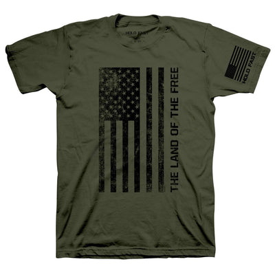 HOLD FAST Mens T-Shirt Freedom Flag