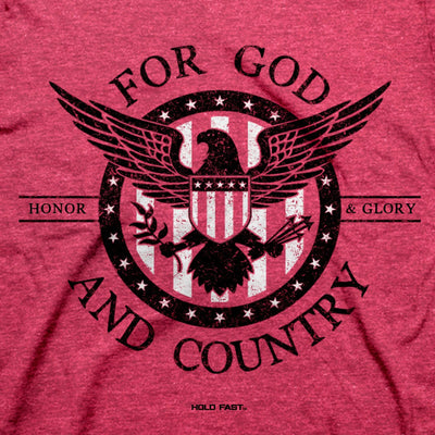 HOLD FAST Mens T-Shirt For God And Country