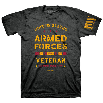 HOLD FAST Mens T-Shirt Veteran