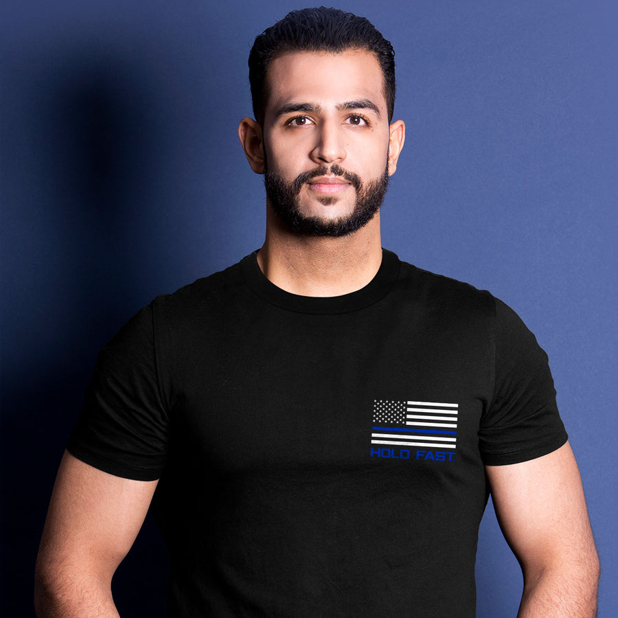 Hold Fast Mens T-Shirt Police Flag