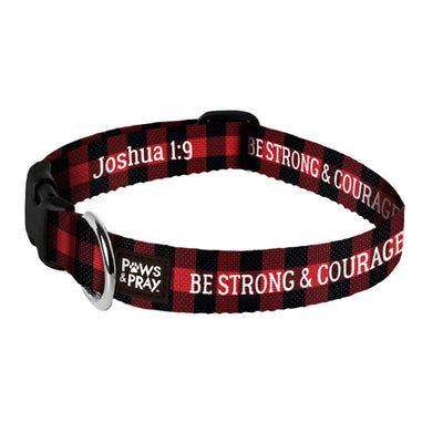 Paws & Pray Strong And Courageous Pet Collar