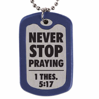 Faith Gear® - Play Hard Pray Hard Dog Tag Necklace