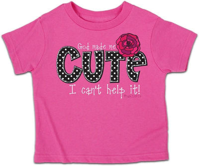 God Made Me Cute Kids Christian T-Shirt ™